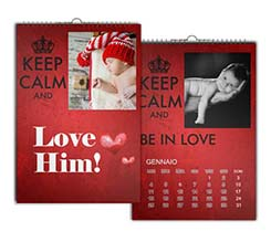 Keep Calm Rosso Calendari Multipagina A4