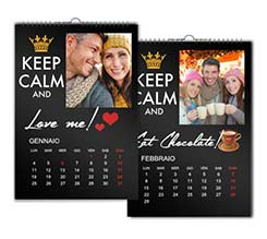 Keep Calm Nero Calendari Multipagina A3