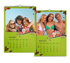 Gufi Calendari Multipagina A3