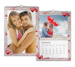 Wall of Love Calendari Multipagina A4