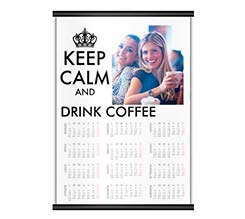 Keep Calm Bianco Calendari A4 Pagina Singola