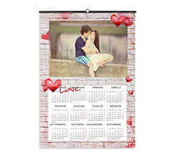 Love on Wall Calendari A3 Pagina Singola