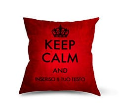Piccolo Keep Calm su Cuscino Dainetto