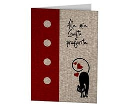 Cat in love Cards