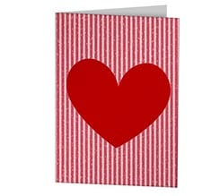 Red Strips Cards