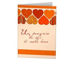 Orange Hearts Cards
