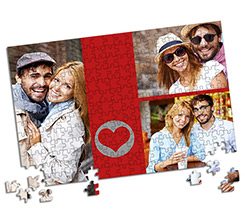 Puzzle Formato A4 - Red Collage