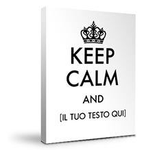 Stampa Keep Calm su Tela