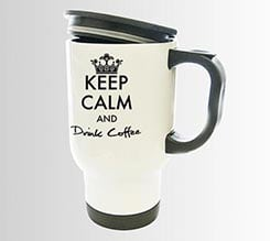 Tazza Termica Keep Calm Nero