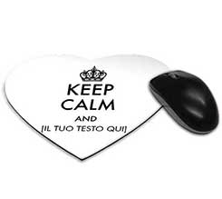 Tappetino Mouse a Cuore Keep Calm