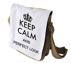 Borsa Joy Keep Calm Bianco