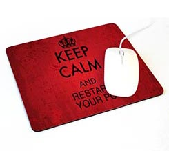 Tappetino Mouse Rettangolare Keep Calm Rosso
