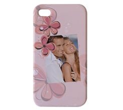 Cover iPhone 3D 4-4s Pink Flowers