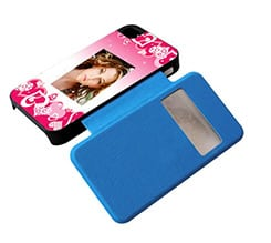 Flip iPhone 4-4s Cuori Rosa