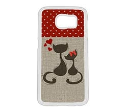 Cover Galaxy S6 Cats in Love