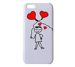Cover 3D iPhone 5C Omino con Cuori