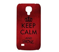 Cover S4 Mini 3D Keep Calm Red