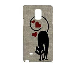 Cover Galaxy Note 4 3D Gatto in Love