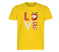 T-shirt bambini in cotone Apple love
