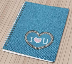 Quaderno A4 Love Jeans