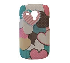Cover S3 Mini 3D Different Hearts