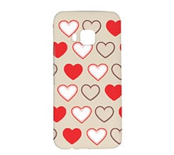 Cover Htc One M9 3D Tempesta di Cuori