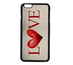 Cover iPhone 6 Plus Red Love