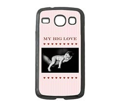 Cover Samsung Galaxy Core Cuori e Righe