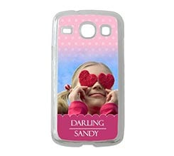 Cover Samsung Galaxy Core Pink Pois