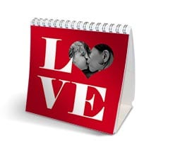 Calendario da tavolo Big love