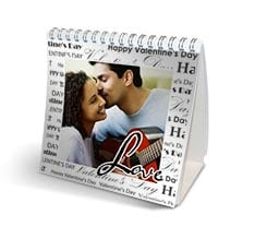 Calendario da tavolo Black words