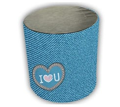 Pouf cilindro Love jeans