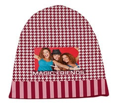 Cappello in pile lungo Red style