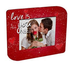Fotopuzzle con cornice doppia punta Love is you