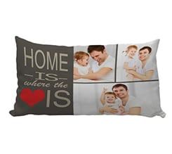 Cuscino carezza con foto Home is here