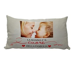 Personalizza cuscino carezza Heart of family