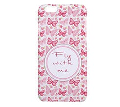 Cover iPhone 6 3D Farfalle rosa