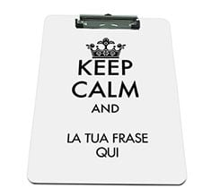 Portablocco A4 in masonite Keep calm