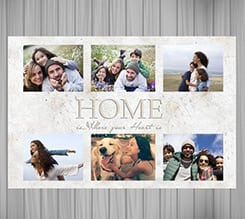 Poster collage White home