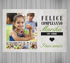 Poster collage Felice compleanno