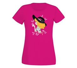 T-shirt donna in cotone Beauty girl