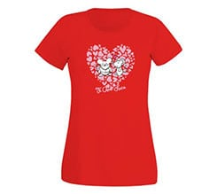 T-shirt donna in cotone Mouse in love