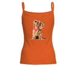 Canotta donna in cotone Dog in love