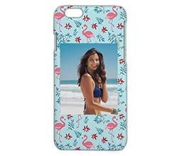 Cover iPhone 6 3D Fenicotteri con fiori