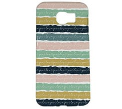 Cover Galaxy s6 3D Trame colorate