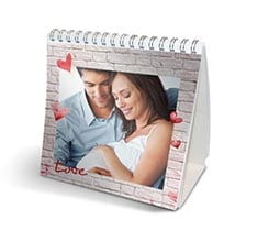 Calendario da tavolo Wall of love