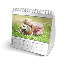 Calendario da tavolo Basic white