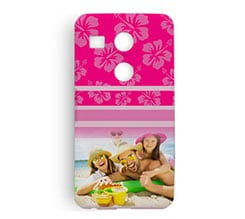Cover Lg Nexus 5x 3D Pink hawaii