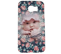Cover Galaxy s6 3D Rose texture
