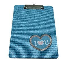Portablocco A4 masonite Love jeans